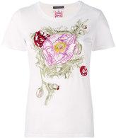 Alexander McQueen floral embroidered T-shirt - women - Cotton - 38