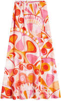 Emilio Pucci Printed Skirt in Cotton and Silk