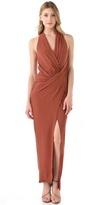Haute Hippie Asymmetrical Draped Gown