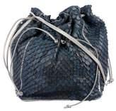 Carlos Falchi Anaconda Bucket Bag