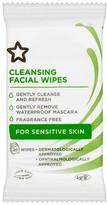 Superdrug Facial Cleansing Travel Wipes 10 Sensitive