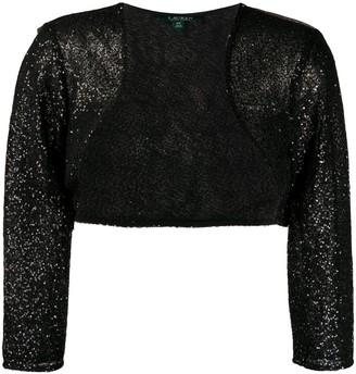 Lauren Ralph Lauren Sequin-Embellished Bolero Jacket