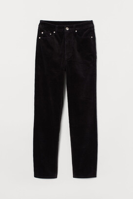 H&M Corduroy Pants - Black