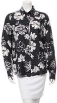Salvatore Ferragamo Floral Print Silk Top