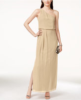 Adrianna By Adrianna Papell One-Shoulder Chiffon Draped Gown