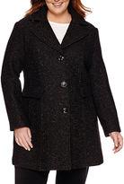 MISS GALLERY Miss Gallery Wool-Blend Walker Coat - Plus