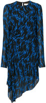 Saint Laurent printed asymmetric dress - women - Silk/Viscose - 42