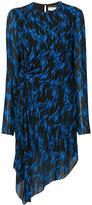 Saint Laurent printed asymmetric dress
