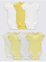 Marks and Spencer 7 Pack Pure Cotton Baby Bodysuits