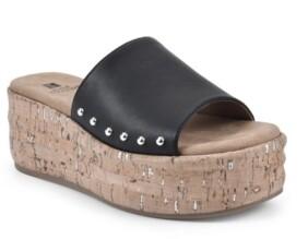 White Mountain Diligent Women's Platform Slide Sandals Women's Shoes
