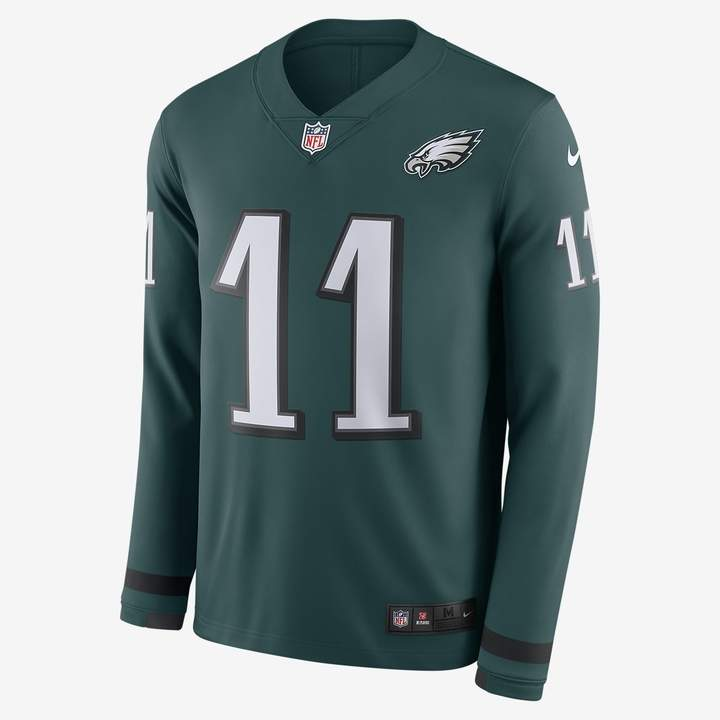 sports shoes 0229f b77d1 Men's Long-Sleeve Football Jersey NFL Philadelphia Eagles Jersey (Carson  Wentz)