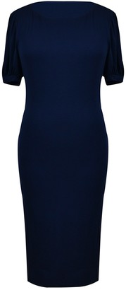 Velvet Torch Half Sleeve Midi Dress