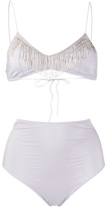 Oseree Frayed Two-Piece Bikini