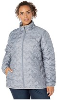 Columbia Plus Size Delta Ridgetm Down Jacket (Tradewinds Grey/Heather Print) Women's Coat