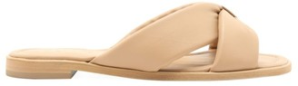 Schutz Fairy Flat Padded Leather Sandals