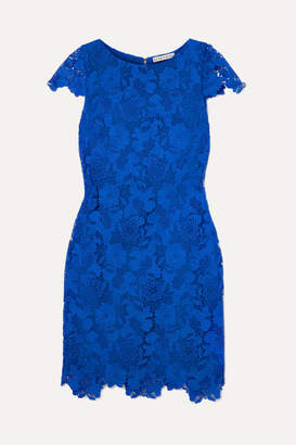 Alice + Olivia Guipure Lace Mini Dress - Blue
