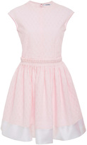 Carven Pink Cotton Flare Dress with Cinched Waist