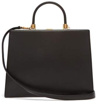 Rodo Frame Top-handle Leather Bag - Womens - Black