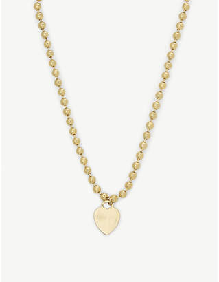 Vanessa Mooney The Boss 24ct gold-plated heart necklace