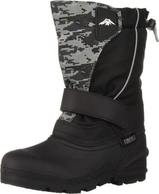 Tundra Boots Kids Boys' Quebec (Toddler Big Black/Grey Camo 11 Little Kid M