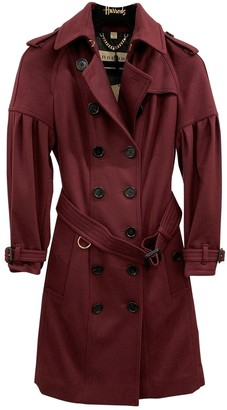 Burberry Burgundy Cashmere Trench coats