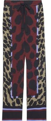 Diane von Furstenberg Nik Printed Stretch-silk Wide-leg Pants