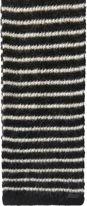 Saint Laurent Logo Striped Mohair Blend Scarf