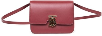 Burberry Bordeaux Tb Small Leather Bag