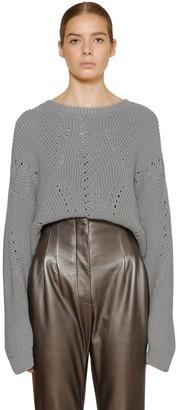 Alberta Ferretti Wool Rib Knit Sweater