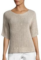 Peserico Metallic Sequined Knit Sweater