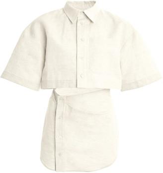 Jacquemus Arles Cutout Cotton-Blend Mini Dress