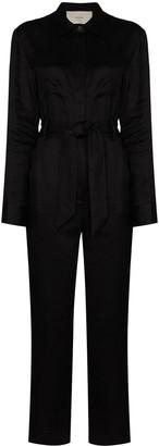 ASCENO Antwerp tie-waist jumpsuit