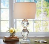 Pottery Barn Carlotta Faceted Crystal Lamp Base
