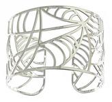 Kris Nations Silver Deco Leaf Cuff