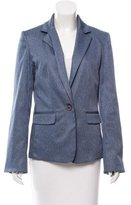Alice + Olivia Chambray Notch-Lapel Blazer