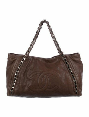 Chanel Modern Chain Tote Brown