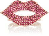 Sydney Evan Large Pave Lips Ring