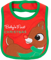 Rashti & Rashti Red Rudolph 'Baby's First Christmas' Bib