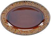 "Certified International Solstice Brown 16"" x 12"" Oval Serving Platter"