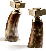 N. Light Bull Horn Candlestick Holders