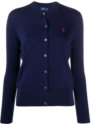 Polo Ralph Lauren Logo Embroidered Cardigan