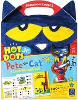 Educational Insights Hot Dots Jr. Pete the Cat Preschool Level 1 Activity Book & Talking Pen Set