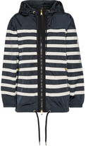 Moncler Hooded Striped Shell Jacket - Midnight blue