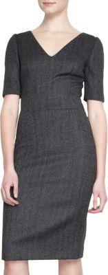 Dolce & Gabbana Short Sleeve V-Neck Sheath Dress