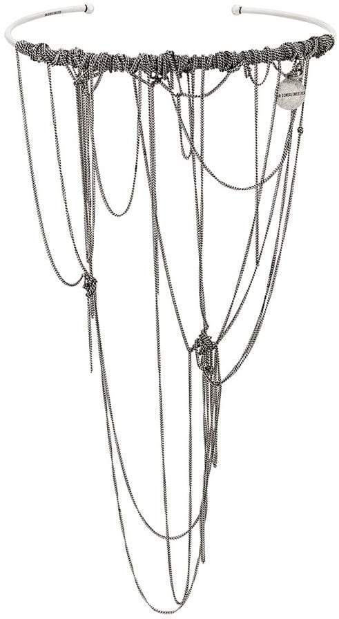 Ann Demeulemeester draped chain necklace