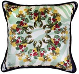 Texas And The Artichoke Lobster Pale Green Silk and Velvet Cushion