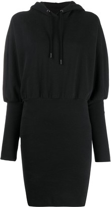 Opening Ceremony Embroidered Logo Hooded Dress