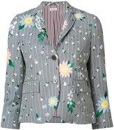 Thom Browne floral pattern blazer - women - Silk/Cotton/Mohair - 38