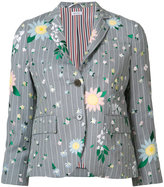 Thom Browne floral pattern blazer - women - Silk/Cotton/Mohair - 42