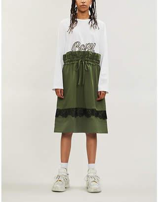BAPY Logo-print cotton-blend midi T-shirt dress